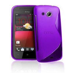 FlexiCase Skal till HTC Desire 200 (Lila)