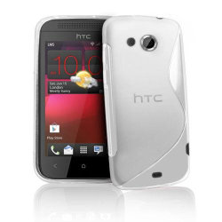FlexiCase Skal till HTC Desire 200 (Vit)