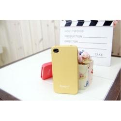FlexiCase Skal till iPhone 4S  /  4 (Blekgul) + Skärmskydd