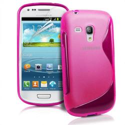 FlexiCase Skal till Samsung Galaxy S3 Mini i8190 - (Rosa)