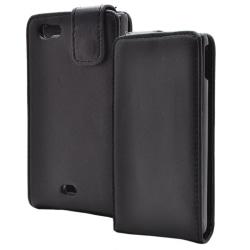 Flip mobilväska till Sony Xperia Miro ST23i (Svart)