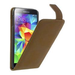 Flipfodral till Samsung Galaxy S5 - Brun
