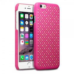 Floral ETCH Skal till iPhone 6   /   6S  - Magenta