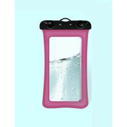 Flytande Vattentätt universalt mobilfodral - Rosa