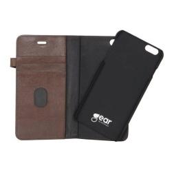 GEAR Buffalo äkta läder Plånboksfodral iPhone 5/5S/SE - Brun