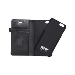 GEAR Buffalo äkta läder Plånboksfodral iPhone 5/5S/SE - Svart