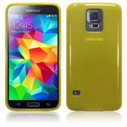 Gel FlexiSkal till Samsung Galaxy S5 - Gul