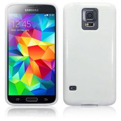 Gel FlexiSkal till Samsung Galaxy S5 - Vit