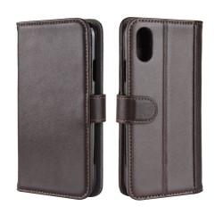 Genuine Split Plånboksfodral till Apple iPhone XS MAX - Brun