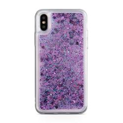 Glitter Skal till iPhone XS / X  - Lila