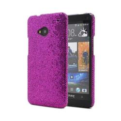 Glitterskal till HTC One (M7) (Lila)