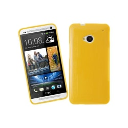 Glittery FlexiSkal till HTC One (M7) (Gul)