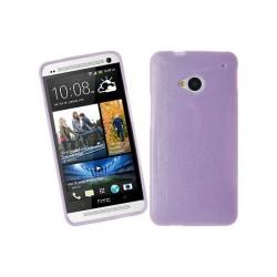 Glittery FlexiSkal till HTC One (M7) (Lila)