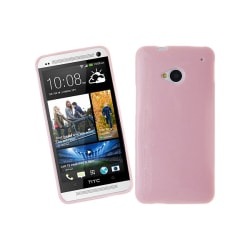 Glittery FlexiSkal till HTC One (M7) (Rosa)