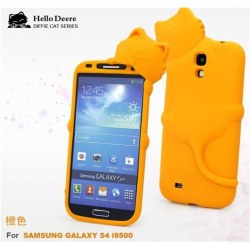 Hello Deere Silikonskal till Samsung Galaxy S4 i9500 (Orange)