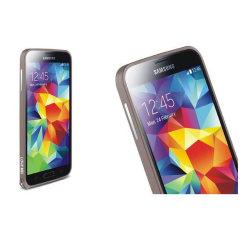 LOVE MEI 0,7mm Metal Bumper till Samsung Galaxy S5 (Brun)