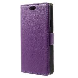 Lychee Embossed Plånboksfodral till Samsung Galaxy Alpha - Lila