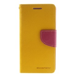 Mercury Fancy Plånboksfodral till Samsung Galaxy S5 - Gul