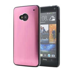 Metal Brushed Baksideskal till HTC One (M7) (Rosa)