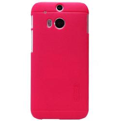 Nillkin Frosted Shield Skal till HTC One M8 (Röd) + Skärmskydd