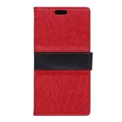 Plånboksfodral av till Sony Xperia Z5 Premium - Röd/svart