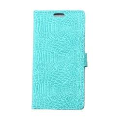 Plånboksfodral Croco till Sony Xperia E4 - Turkos