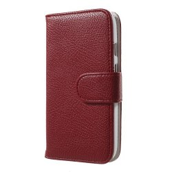 Plånboksfodral till Motorola Moto E (2nd Gen)  - Röd