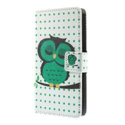 Plånboksfodral till Sony Xperia E4g - Sovande Uggla