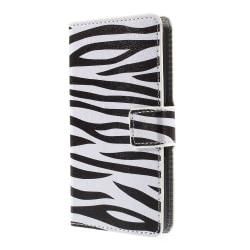 Plånboksfodral till Sony Xperia E4g - Zebra