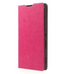 Plånboksfodral till Sony Xperia T3 (Magenta)