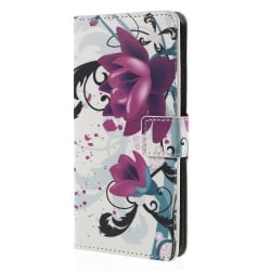 Plånboksfodral till ZTE Blade S6 - Red Flower