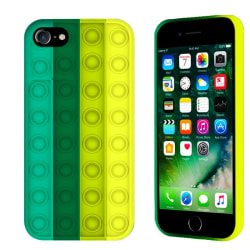 Pop it Fidget Multicolor Skal iPhone 7/8/SE (2020) - Mörk Grön