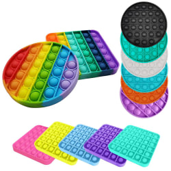 Pop it Fidget Sensory Leksak - Fyrkant - Lila (1 Pack) Fyrkant - Lila (1 Pack)