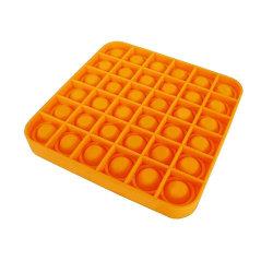 Pop it Fidget Sensory Leksak - Fyrkant - Orange