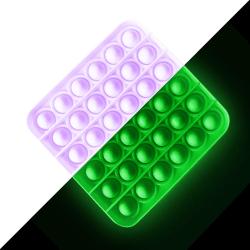 Pop it Fidget Sensory Leksak - Självlysande - Fyrkant - Lila