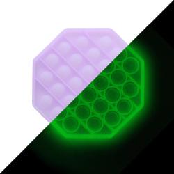 Pop it Fidget Sensory Leksak - Självlysande - Oktogon - Lila