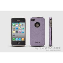 Rock iPhone4  /  4S BigCity back shell + Skärmskydd (Lila)