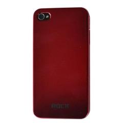 Rock Titanium skal till iPhone 4 (Röd) + Skärmskydd