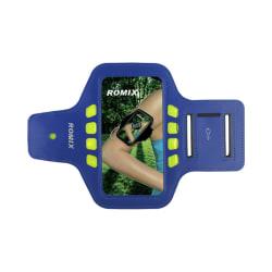 Romix Universalt Sportarmband med reflexer upp till 4.7'' - Blå