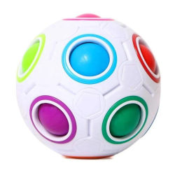 Sensory Rubiks Fidget Ball - Magic Cube - Rainbow