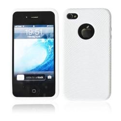 Silikon Cirkel Skal till iPhone 4 (Vit)