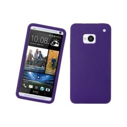 Silikonskal till HTC One (M7) (Lila)
