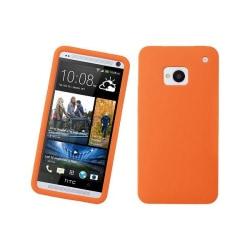 Silikonskal till HTC One (M7) (Orange)