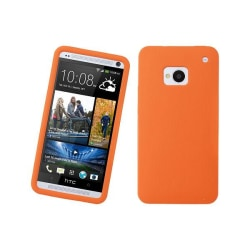 Silikonskal till HTC One (M7) (Orange)
