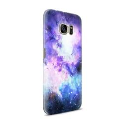 Skal till Samsung Galaxy S7 - Rymden - Lila/Blå