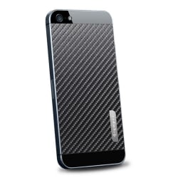 Spigen Skin Guard Carbon Skin till Apple iPhone 5/5S/SE (Svart)