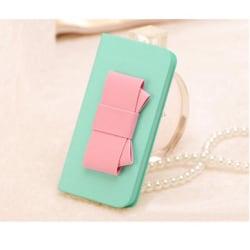 Sweet Hybrid Bow Plånboksfodral till Apple iPhone 4S / 4 (Mint)