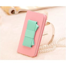 Sweet Hybrid Bow Plånboksfodral till Apple iPhone 4S / 4 (Rosa)