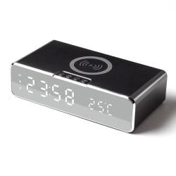 Väckarklocka med inbyggd Trådlös Laddare och Termometer