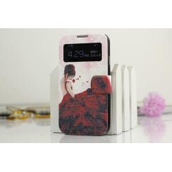 View Cover Fodral till Samsung Galaxy S4 - Lady in Red